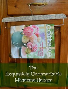 Book Page Magazine Hanger by Exquisitely Unremarkable