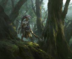 Goblin Hunter, Tianhua Xu on ArtStation at https://www.artstation.com/artwork/goblin-hunter-9fc508a1-603a-4df7-b260-2cb606876f6d