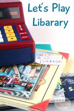 Ideas for playing library with toddlers and preschoolers. Part of the A-Z of Indoor Activities blog hop.