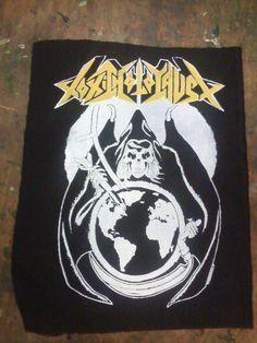 """Toxic Holocaust Patch grande  Estamparia: Personalizamos e estampamos a sua ideia: imagem, frase ou logo preferido. Arte final. Telas sob encomenda. Estampas de/em camisas masculinas e femininas (e outros materiais). Fornecemos as camisas ou estampamos a sua própria. Envie a sua ideia ou escolha uma das """"nossas"""".... Blog: http://knupsilk.blogspot.com.br/ Pagina facebook: https://www.facebook.com/pages/KnupSilk-EstampariaSerigrafia/827832813899935?pnref=lhc https://twitter.com/KnupSilk"""