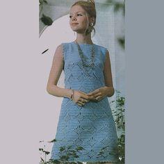 Vintage Blue Dress - No diagram but more pictures at site