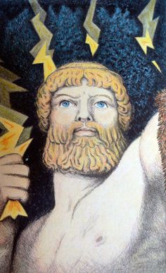 zeus from D'Aulaires Book of Greek Myths