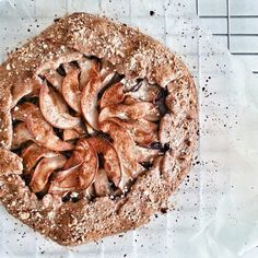"""My kind of #dessert - a slightly sweet and high fiber #Galette! """"Spiced #pear and a buckwheat blend crust."""" Via @sandrawooo #feedfeed! #homemade #breakfast http://evpo.st/1n9Lq82"""