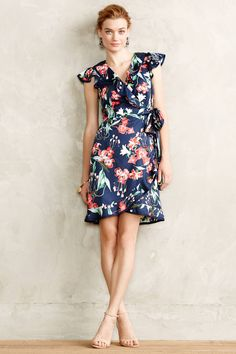 Hibiscus Wrap Dress by Karen Walker - anthropologie.com