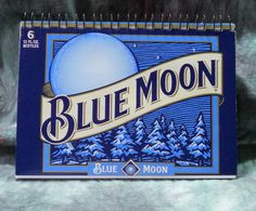 Spiral Notepad from Recycled Blue Moon Belgian White Ale 6-pk beer carton by squigglechick, $6.00