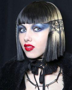 Betsey Johnson backstage    makeup look
