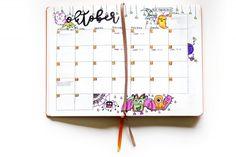 October monthly spread, by Caroline