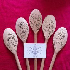 5 Piece Disney Princess Utensil Set by TheSevenYearStitchUK