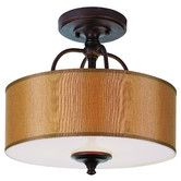 Found it at Wayfair - TransGlobe Lighting Modern Meets Traditional Semi Flush Mount