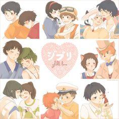 a miniprint i will be selling at AWA this year~ all characters ©studio ghibli, miyazaki/takahata etc ghibli love Hayao Miyazaki, Howl's Moving Castle, Totoro, Studio Ghibli Art, Studio Ghibli Movies, Chibi, Original Anime, Chihiro Y Haku, The Cat Returns
