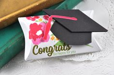 Congrats Graduation Pillow Box by Dawn McVey for Papertrey Ink (March 2015)