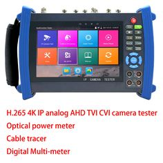 4K H.265 TVI AHD CVI IP camera tester analog CCTV tester monitor with Digital Multi-meter ,Optical power meter,Cable tracer #Affiliate