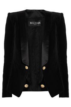 Balmain|Velvet and satin blazer  €1,759