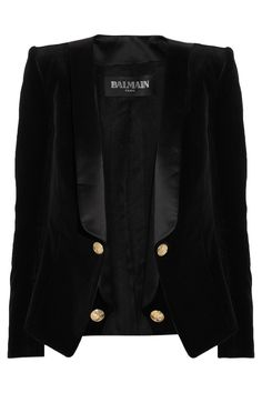 BALMAIN  Velvet and satin blazer