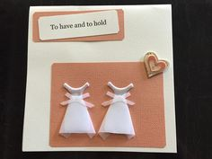 """""""To have and to hold"""" Wedding or Engagement Card available to purchase online via mismolife.com.au or find on etsy"""