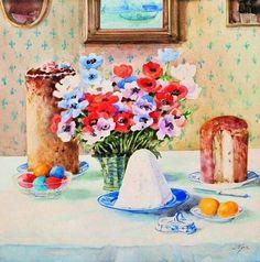 "Watercolour painted by Grand Duchess Olga Alexandrovna Romanova of Russia of Easter. ""AL"""