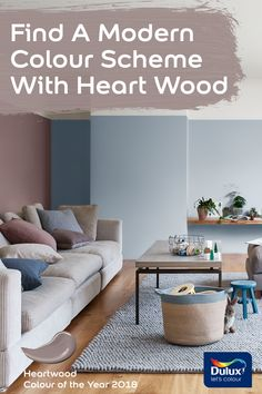 Dulux Grey Colour Schemes For Living Rooms Small Room Fireplaces 117 Best Heart Wood Of The Year 2018 Images Color Find A Modern Scheme To Suit Your Family With