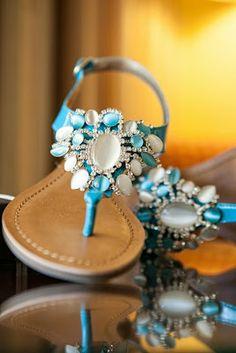Something blue wedding sandals?
