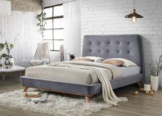 Pat modern din catifea gri, Lider Furniture, 160 x 200 cm - eMAG. Interior Architecture, Minimalism, Lounge, Velvet, Couch, Bedroom, Modern, Furniture, Inspiration