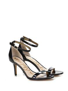 Sam Edelman - Sandalo alto - Donna - Sandalo alto in eco pelle e vernice con cinturino alla caviglia e suola in gomma. Tacco 75. - BLACK - € 160.00