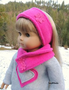 Hi Everyone! It's cold and beautiful outside! I just finished this set for my doll to share with you. A very cozy ear a...