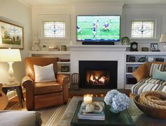 4 Skillful Cool Tips: Living Room Remodel With Fireplace Decor small living room remodel before and after.Living Room Remodel On A Budget Hallways living room remodel on a budget hallways.Living Room Remodel With Fireplace Fixer Upper. Bookshelves Around Fireplace, Tv Over Fireplace, Fireplace Built Ins, Bookshelves Built In, Faux Fireplace, Living Room With Fireplace, Fireplaces, Fireplace Ideas, Furniture Around Fireplace