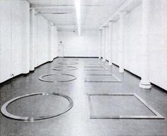 Walter De Maria, partial view of Equal Area Series , 1976–77. Installed at 19 Waverly Place, 1977. Photo: New York Magazine , October 31, 1...