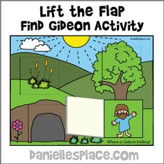 Lift the Flap Find Gideon Activity
