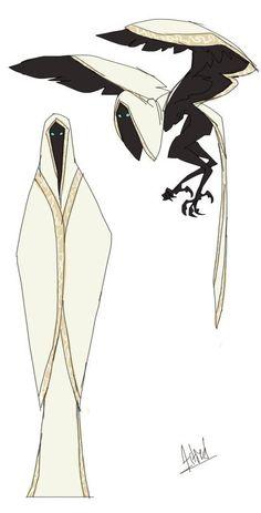 Excelente ilustração de uma harpía