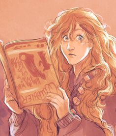 """""""She had straggly, waist-length, dirty blonde hair, very pale eyebrows and protuberant eyes that gave her a permanently surprised look.The girl gave off an aura of distinct dottiness. Perhaps it was the fact that she stuck her wand behind her left ear for safekeeping, or that she had chosen to wear a necklace of Butterbeer corks, or that she was reading a magazine upside down."""" - a description of Luna Lovegood from the Order of the Phoenix from bevsi on tumblr #harrypotter #fanart"""