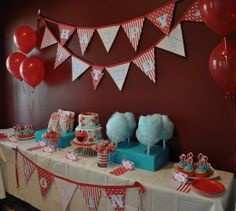 Minus the Elmo. Love the cotton candy table