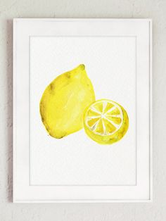 Lemon Art Print Citrus Foodart Watercolor by ColorWatercolor