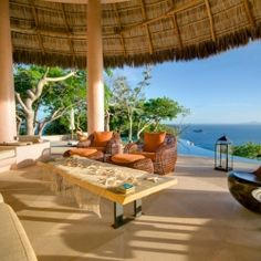 Fabulous Mexican-style villa on Mustique Island with breathtaking ocean views.