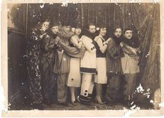 Group photo of 1920's era circus performers. #circus #performer  (Old memory found in an old box by M arielle on Flickr)