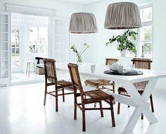 Taklampe i silkeplisse - Tine K Home taklamper - Stue - Shop by inspiration - Vakre Rom