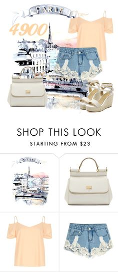 """""""4900 Followers"""" by amymorgan1999 ❤ liked on Polyvore featuring мода, Dolce&Gabbana и River Island"""