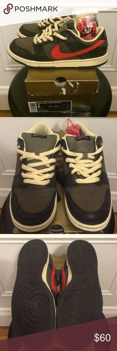 4774e40a3dbf Nike Dunk Low Premium SB Like new with box SBs. Black Atom Red color way Nike  Shoes Sneakers