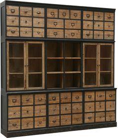 Brucs Bleached Pine 3 Part Cabinet