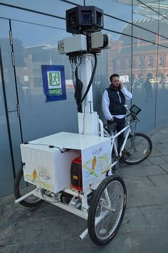 Google Streetview Trike, el triciclo fue fotografiado infraganti en Kings Cross London