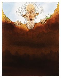Don Quixote/ Miguel De Cervantes, retold by Martin Jenkins/ Walker Books, Illustrator: Chris Riddell Chris Riddell, Dom Quixote, Retelling, Cartoon Art, Illustration Art, Book Illustrations, Illustrators, Book Art, Lion Sculpture