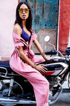 Cindy Bruna by Alexander Neumann for Madame Figaro France July 2015 #Cuba