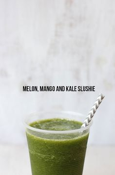 Melon, Mango and Kale Slushie (Icee).