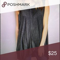 Long grey sleeveless tank This tank is so cute and comfy! Perfect to pair with some leggings and boots! Tops Tank Tops