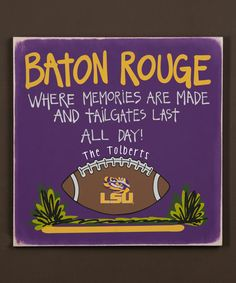 This LSU Tigers Personalized Tailgate Sign is perfect! #zulilyfinds