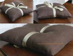 Ring Bearer Pillow in Linen by finehandmadeclothing on Etsy, $30.00