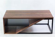 Cortado, Modern Walnut and Steel Coffee Table 4