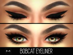 "mac-cosimetics: "" BOBCAT EYELINER (HQ) by MAC-COSIMETICS • 14 swatches • 3 Different Lengths • With and Without Bottom Lashes DOWNLOAD AT OUR SITE! • Never miss a product release by simply turning on the ""Post notifications"" option for this blog! •..."