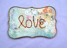 Colorful love plaque by intralove on Etsy