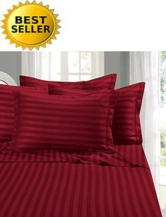 Elegant Comfort #1 Bed Sheet Set on Amazon - Super Silky Soft - 1500 Thread Count Egyptian Quality Luxurious Wrinkle, Fade, Stain Resistant 6-Piece STRIPE Bed Sheet Set, Queen Burgundy //http://bestadjustablebed.us/product/elegant-comfort-1-bed-sheet-set-on-amazon-super-silky-soft-1500-thread-count-egyptian-quality-luxurious-wrinkle-fade-stain-resistant-6-piece-stripe-bed-sheet-set-queen-burgundy/