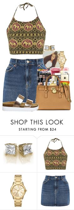 """J A N E T ."" by basnightshine1015 ❤ liked on Polyvore featuring Topshop, Michael Kors and Office"